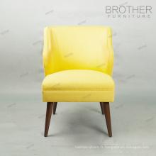 Tissu haut de dos de luxe relaxant chaise de sofa de restaurant de loisirs à vendre