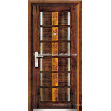 Porte blindée en bois insonorisée en acier, avec cadre de porte anti-vol, portes blindées sur mesure