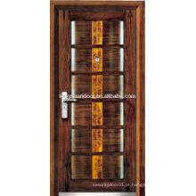 Porta blindada de madeira a prova de insonorização, com armação de porta à prova de roubo, portas blindadas personalizadas