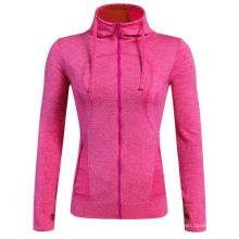 Longo-luva com capuz Mulheres Fitness T-Shirt Sports Clothing 5 Cor