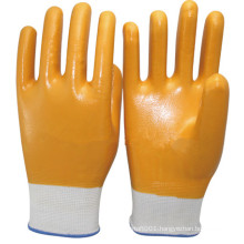 NMSAFETY waterproof gardening gloves nitrile full dipping glove