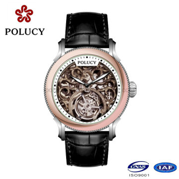 Manufacturer Make Custom Mechanical Skeleton Watches for Men