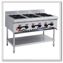 K217 fogão de gás grande de 6 queimadores com prateleira inferior