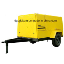 High Pressure Construction  Diesel Engine Driven Portable Screw Compressor (PUD 12-07)