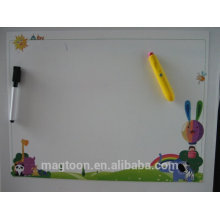 lateset cute kids dry erase flat paper flexible magnet writing board with mark pen