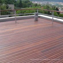 Piso al aire libre apenado de la cubierta del piso IPE sólido del patio de la fuente de la fábrica