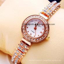 Gros quartz mode dame bijoux montre pour les femmes