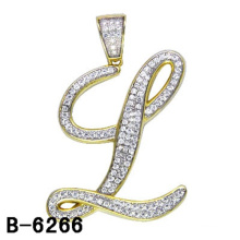 High Quality 925 Sterling Silver Jewelry Letter Pendant