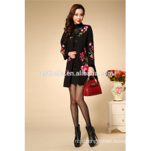 Embroidered Technics and Cotton Fabric embroidery trench coat Ladies embroidered coats