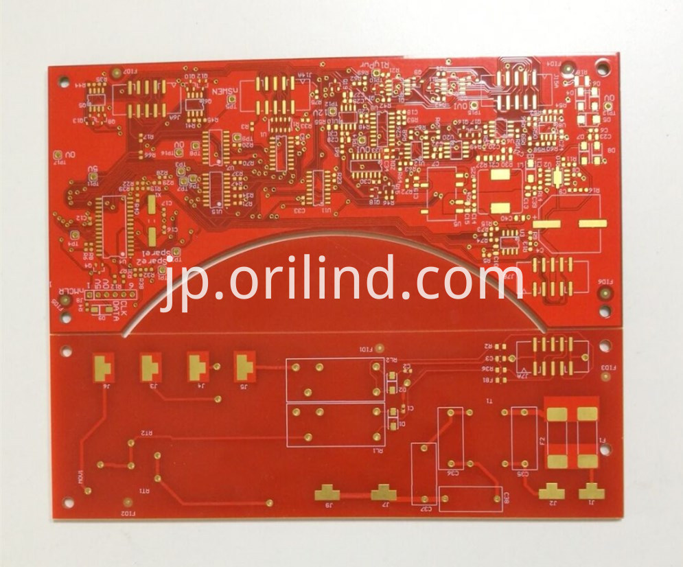 Red colour circuit board