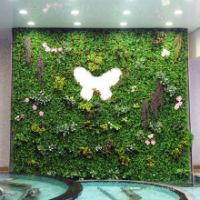 Designer home decor fire resistant aritificial plant wall with foliage