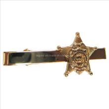Barra de laço do metal na chapeamento de ouro