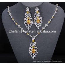 ZheFan atacado conjuntos de jóias de noiva indiana com zircônia cúbica