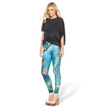 Longueur au genou Femmes Vente en gros Custom Sublimation Print Leggings