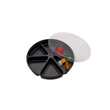 Plateau d'emballage de boursouflure en plastique de noix de sushi rond