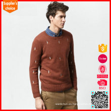 El suéter del diseño del telar jacquar de los hombres de encargo del suéter del knit del telar jacquar del nuevo mens de la manera