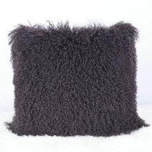 coussin décoratif peau de mouton mongol