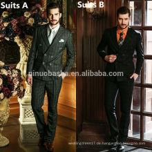Männer zwei Stück Anzüge Preis für Hochzeitskleid Anzüge für Männer 2014 Plaids & Checks Zwei-Row Buttons Business Suits NB0553