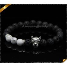 Moda jóias de pedra pulseiras com encantos de prata (CB084)
