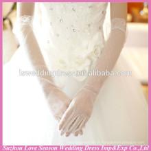 WG0001 nova chegada simples e longo braço de tule coberto luvas de casamento nupcial