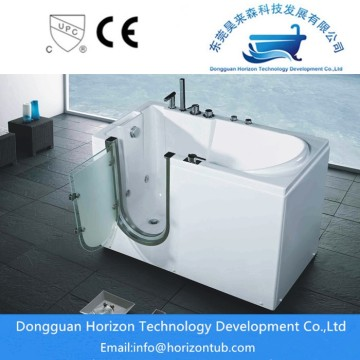 Swing door bathtub walk in tub
