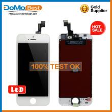 Original nuevo alta calidad suficiente stock lcd táctil completa lcd, pantalla lcd de recambio de Panel frontal para el iphone 5s