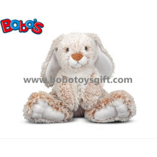 25cm Baby Plush Sitting Rabbit Animal Toy with Long Ears and Big Feet