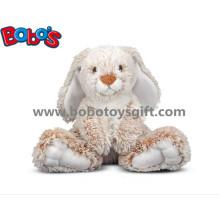 25 centímetros bebê felpa assento brinquedo animal coelho com orelhas compridas e pés grandes
