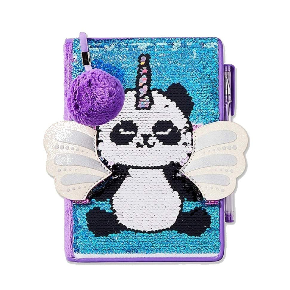 Pandacorn Flip Sequin Notebook 1