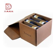 Cajas de cartón de vino de cerveza de cartón de fábrica desechables por encargo directo de fábrica