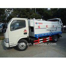 Dongfeng 4m3 side lift compactor garbage truck
