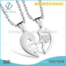 Ensemble gratuit Amour pendentif bijoux, double coeur pendentifs, pour toujours amour pendentifs conception
