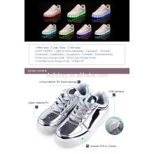 Unisex Boys USB Chargeur de lumière Flashing Sneakers LED Shoes