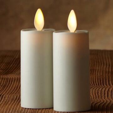 moving wick luminara candle