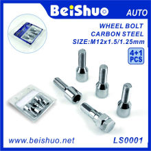 Hot Sale 4+1 PCS Carbon Steel Wheel Hub Bolt Set