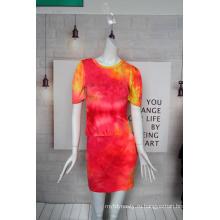DTY Tie-die Fabric для женского костюма