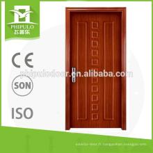 porte d'entrée évaluée par feu en bois intérieur de garde d'entrée stable avec le prix bon marché