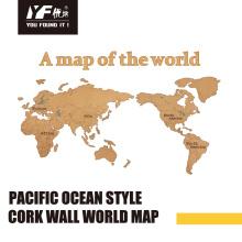Benutzerdefinierte Mode Kork Wanddekoration Karte
