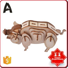 latest produc factory directly laser cut 3d wood puzzle
