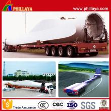 Remorques semi extensibles de camion de lowbed de tour de longueur de feuille de vent 45m