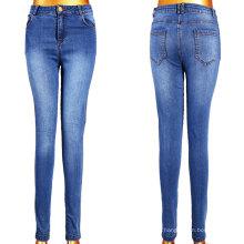 Atacado Lady Blue Jeans com 5 bolsos