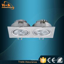 Square One / Tow / Three Head LED Lámpara de techo Iluminación
