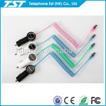 Carregador de carro com cabo para iphone5