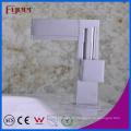 Fyeer Verchromte Schraubenschlüssel Syle Einhand Messing Deck Montiert Badezimmer Basin Wasserhahn Wasserhahn Wasserhahn
