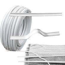 Factory direct white metal single and double core nose bridge clip holder wire for medical facemask