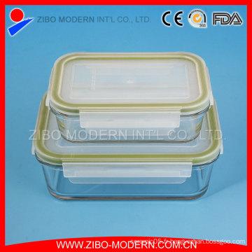 Récipients alimentaires à haute teneur en borosilicate à base de vaisselle en verre