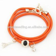 Pulseira pulseira multicamada pulseiras feitas à mão