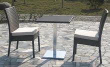Set jadual perabot luaran rotan moden Bar