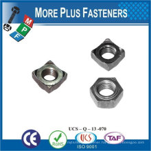 Made in Taiwan Stainless Steel Brass Aluminium Silicone Bronze Hexagon Weld Nuts DIN 929