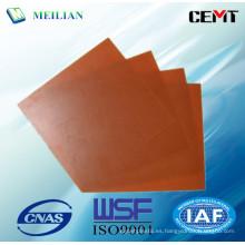 Hoja laminada del aislamiento de la tela de algodón de la resina fenólica 380